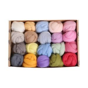 The Good Yarn Ashford corriedale wool sliver Fibre Sliver FSP1 Lights
