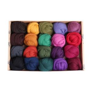 The Good Yarn Ashford Fibre Sliver FSP3 Darks for spinning wool and felting supplies