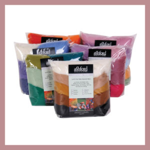 Corriedale Sliver 7 Colour Pack