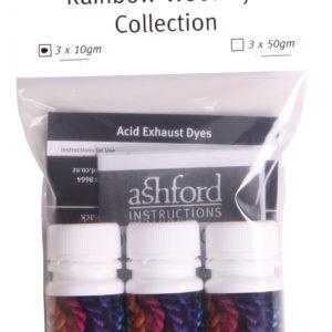 The Good Yarn Ashford Wool Dye 10gm Scarlet Blue Yellow