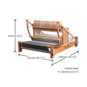 The Good Yarn - Ashford - table loom 16 shaft Dimensions